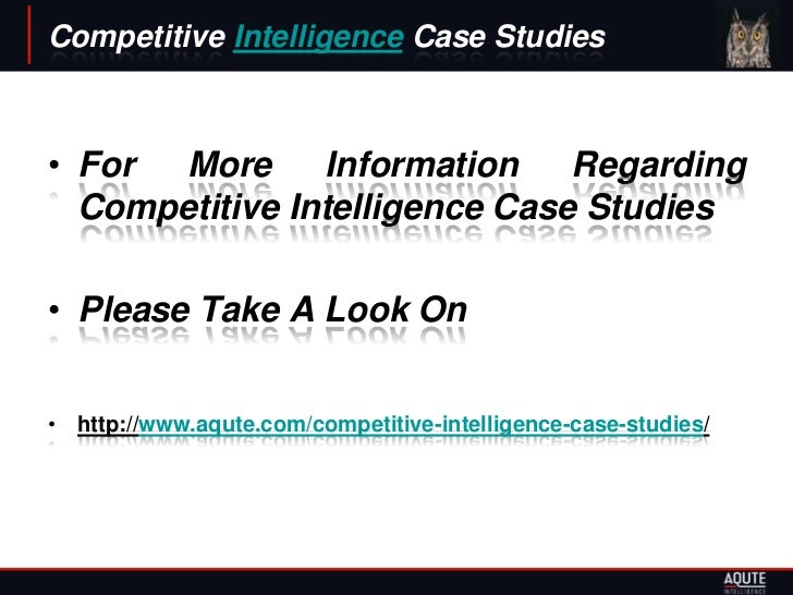 competitive intelligence case studies