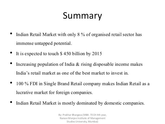 Competitive landscape of the retail industry in india