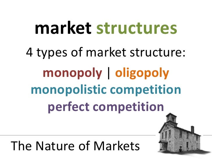 market structure supply demand The notions of supply and demand are fundamental to economics  where the  two curves intersect, the equilibrium, or market, price is found  in categories  where there are several large competitors, the market structure is monopolistic.