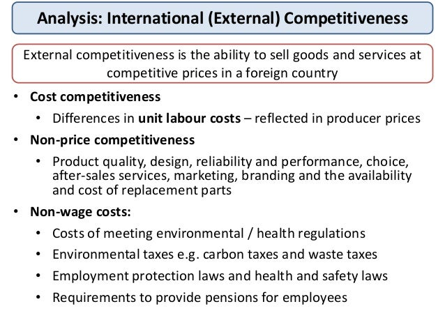 international competitiveness Evidence shows that countries open to international trade tend to grow faster  tcdata360 is an initiative of the world bank group's trade & competitiveness.