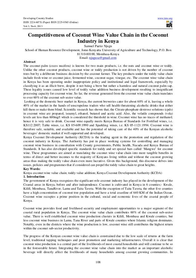 Developing Country Studies www.iiste.org ISSN 2224-607X (Paper) ISSN 2225-0565 (Online) Vol.3, No.6, 2013 108 Competitiven...