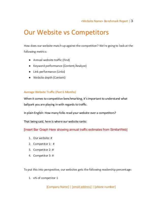 Competitive SEO Audit Template