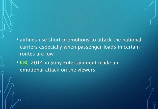 • airlines use short promotions to attack the national carriers especially when passenger loads in certain routes are low ...