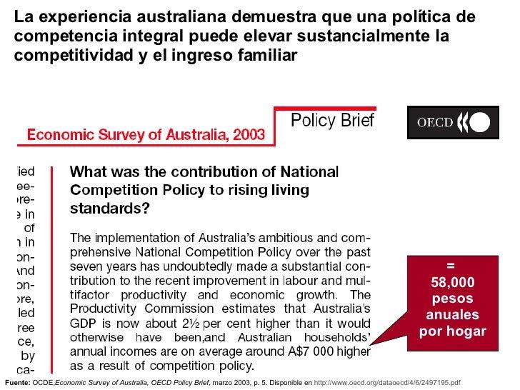 La experiencia australiana demuestra que una política de competencia integral puede elevar sustancialmente la competitivid...