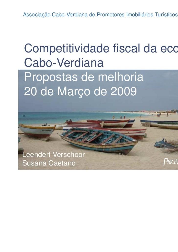 Associação Cabo-Verdiana de Promotores Imobiliários Turísticos TurísticosAssociação Cabo-Verdiana de Promotores Imobiliári...