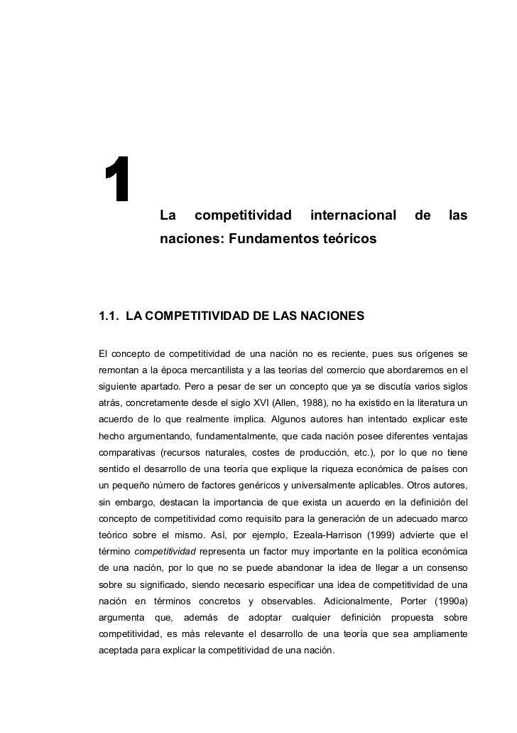 La       competitividad             internacional             de      las              naciones: Fundamentos teóricos1.1. ...