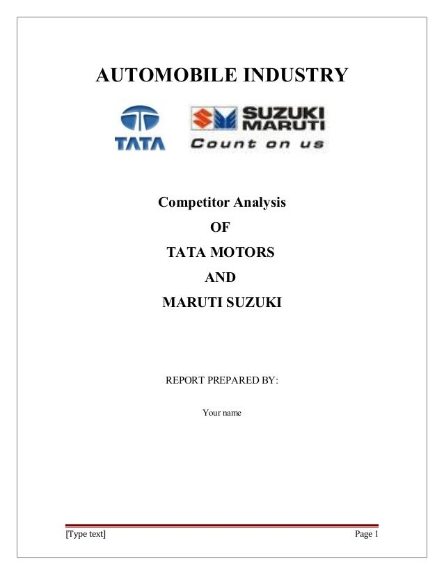 project report of tata motor Equity research report for tata motors tata benefits from growth in global luxury vehicles and commercial vehicles in india.
