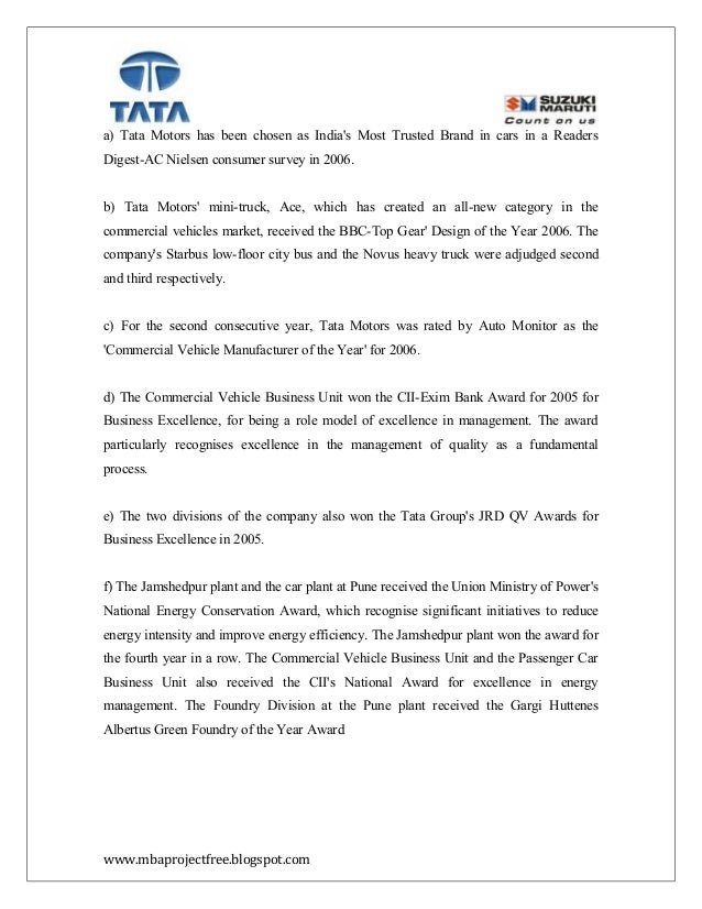 """project report tata motors marketing 163 thoughts on """" tata motors internships – all you need to the summer training project report of marketing in tata motorsi am in pgdm marketing and."""