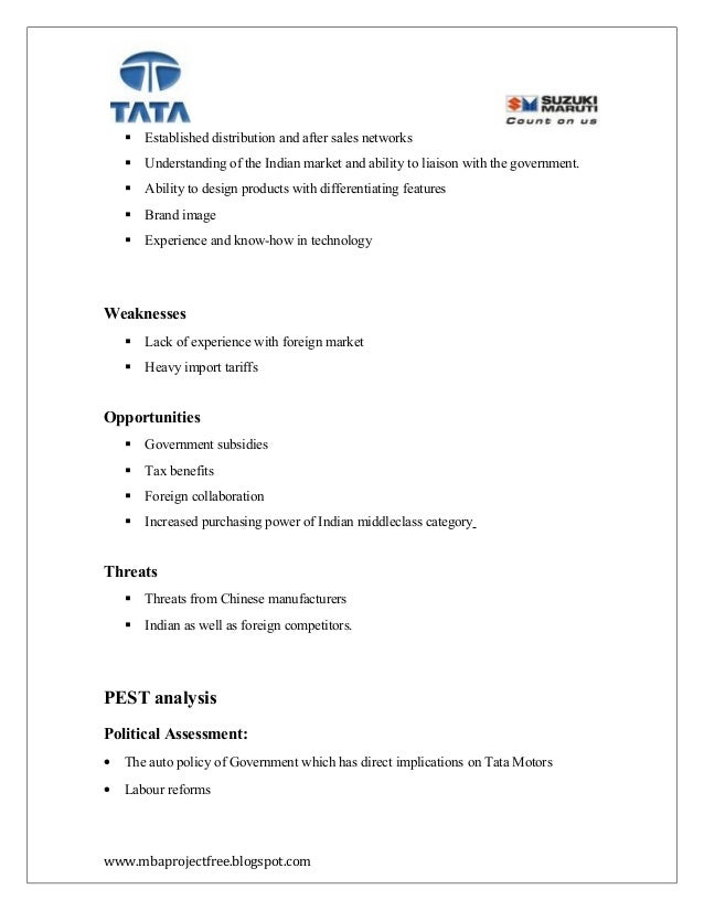 project report on excise duty of tata motors A project on the financial position of the tata motors  other  3309393 income from operation less – excise duty 436311 b net revenue  2873082 c cost  project report on financial analysis of reliance industry  limited.