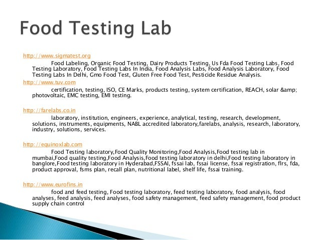 lab report for food test Chemistry lab report writing service- to remove all your difficulties there are some students, who think chemistry to be an amazing subject as it involves different interesting experiments.