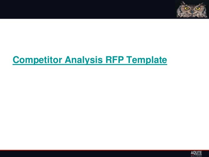 Competitor Analysis RFP Template