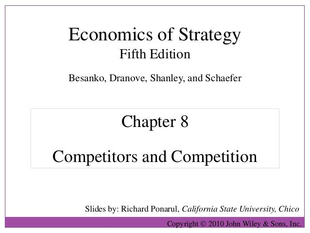 Economics of Strategy               Fifth Edition  Besanko, Dranove, Shanley, and Schaefer               Chapter 8Competit...