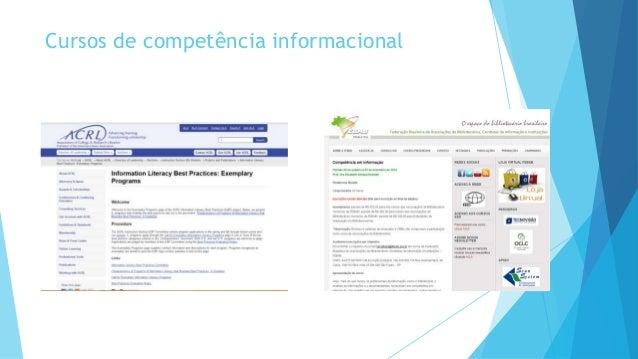 Cursos de competência informacional
