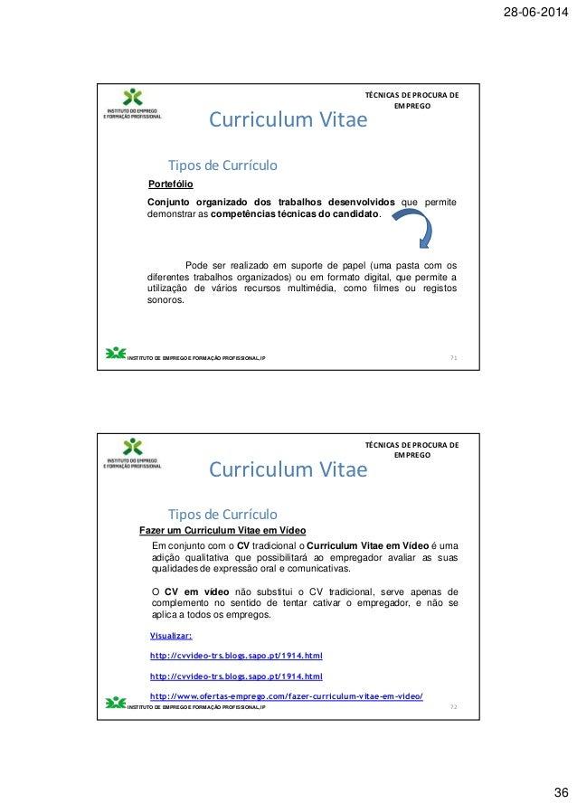 t u00e9cnicas de procura de emprego iefp 2012