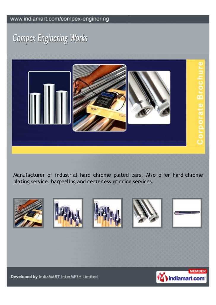 Manufacturer of industrial hard chrome plated bars. Also offer hard chromeplating service, barpeeling and centerless grind...