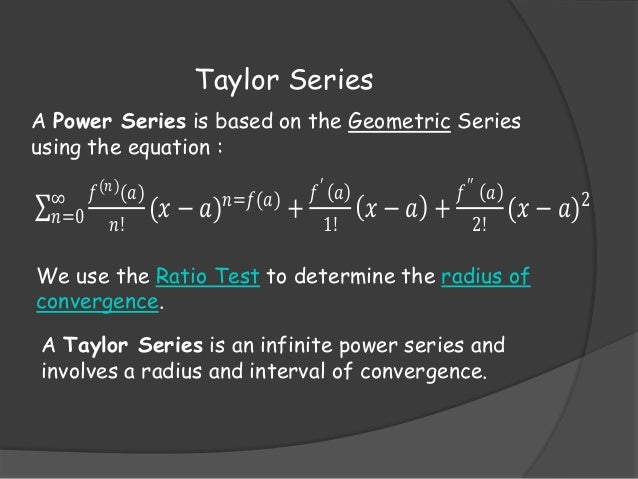 Finding radius of convergence taylor series : War and peace