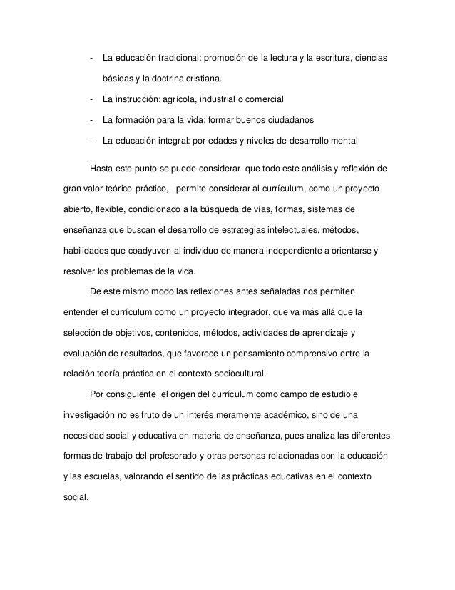 EVOLUCIÓN DEL CONCEPTO DE CURRÍCULO