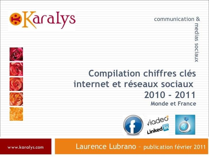 Compilation chiffres clés internet et réseaux sociaux  2010 - 2011 Monde et France Laurence Lubrano –  publication février...