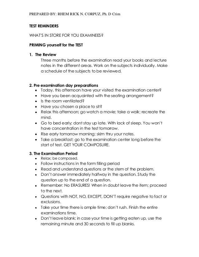 Reviewer pdf exam napolcom