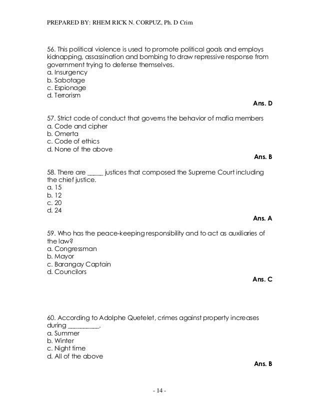 Compilation of previous board examination questions 14 fandeluxe Images
