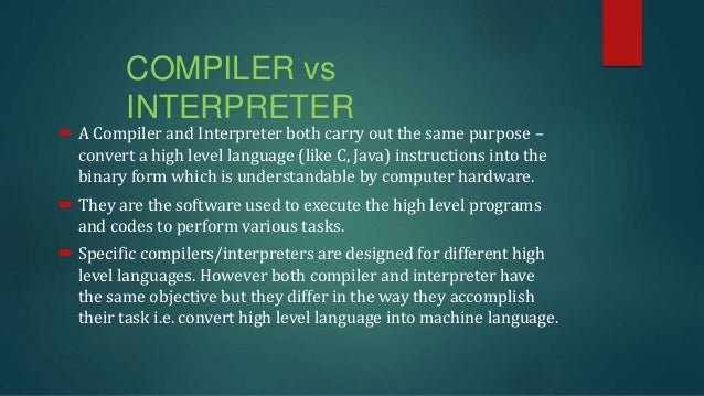 compiler and interpreter in java pdf