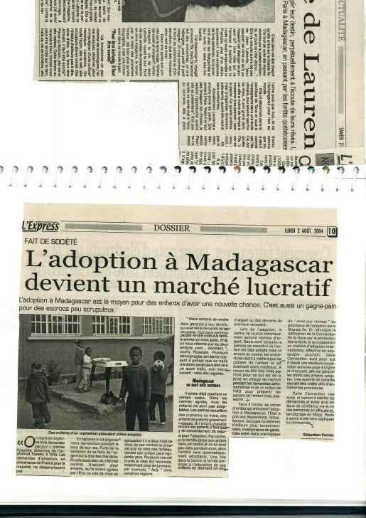 Articles que j\'ai écrit pour L\'Express de Madagascar