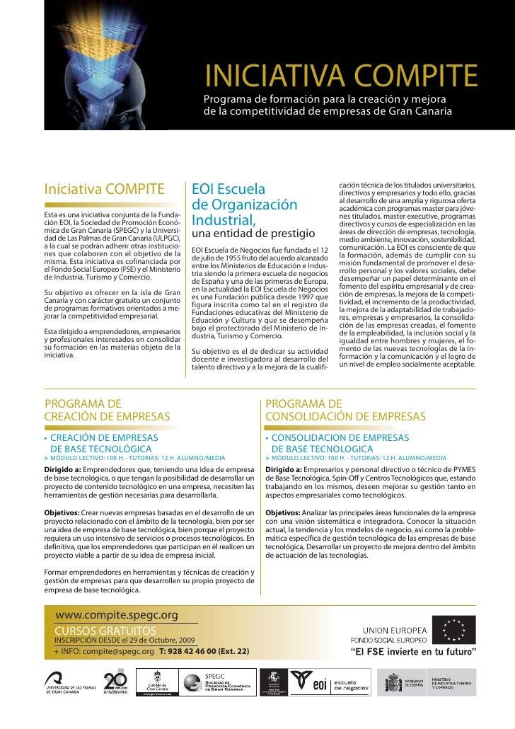 INICIATIVA COMPITE                                                     Programa de formación para la creación y mejora    ...