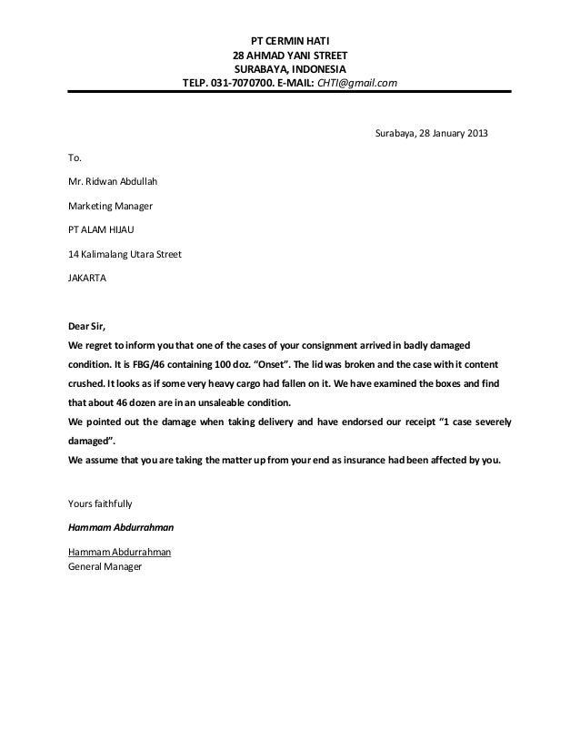 Complaining letter idealstalist complaining letter altavistaventures Gallery