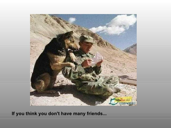 If you think you don't have many friends...