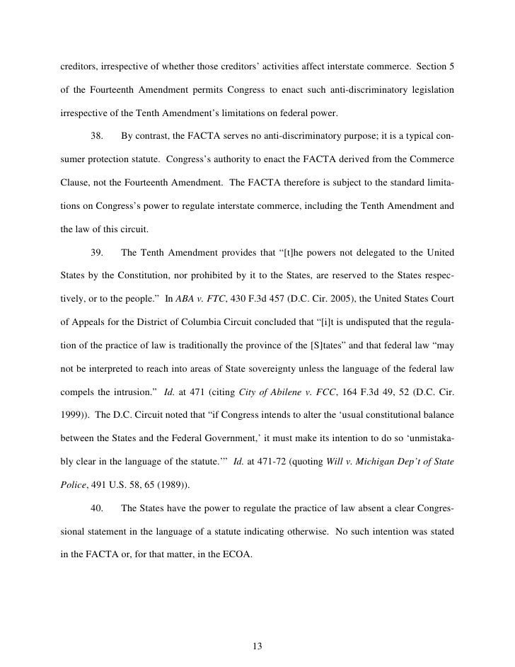 creditors, irrespective of whether those creditors' activities affect interstate commerce. Section 5  of the Fourteenth Am...