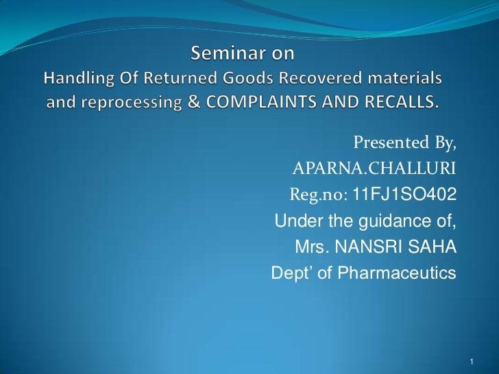 Presented By,  APARNA.CHALLURI  Reg.no: 11FJ1SO402Under the guidance of,  Mrs. NANSRI SAHADept' of Pharmaceutics          ...