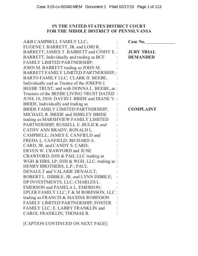 RICO Lawsuit Filed Against Chesapeake Energy & Williams/Access Midstr…