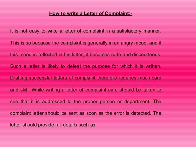 5 how to write a letter of complaint