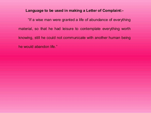 Define Letter Of Complaint from image.slidesharecdn.com