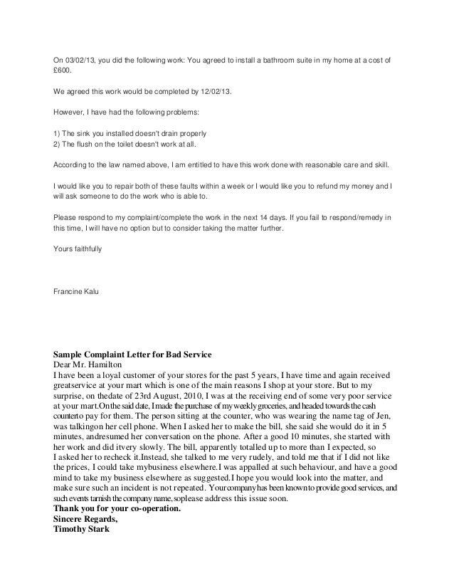 Complaint letters 3 spiritdancerdesigns Images