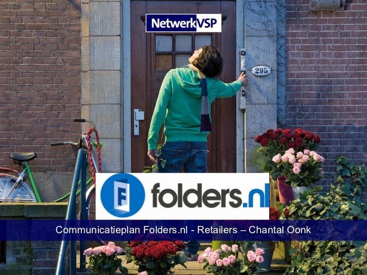 Communicatieplan Folders.nl - Retailers – Chantal Oonk