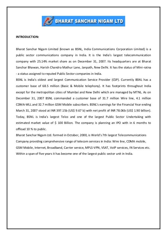 litreture review of bsnl Review of literature a brief review of some of the studies conducted in recent years relating to the topic is given below abdullah aldarrab, sandeep jagani and tauseef iqbal (2006) outsourcing to.