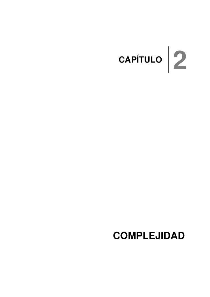 CAPÍTULO            2     COMPLEJIDAD