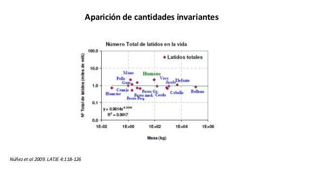 Aparición de cantidades invariantes Núñez et al 2009. LATJE 4:118-126