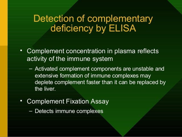 The Assay Contains Three Components and Three Steps Components: 1. The test system • Incubate serum + test antigen 1. Comp...