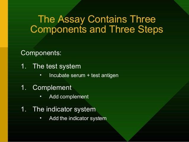Complement Fixation Assay (positive test)