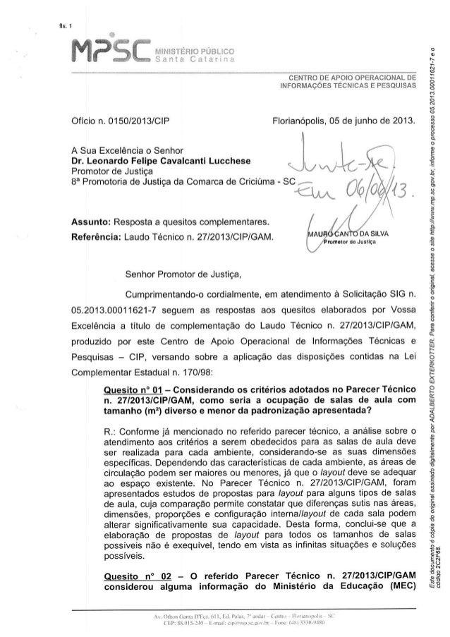 Complementação do parecer técnico 27.2013.cip.gam