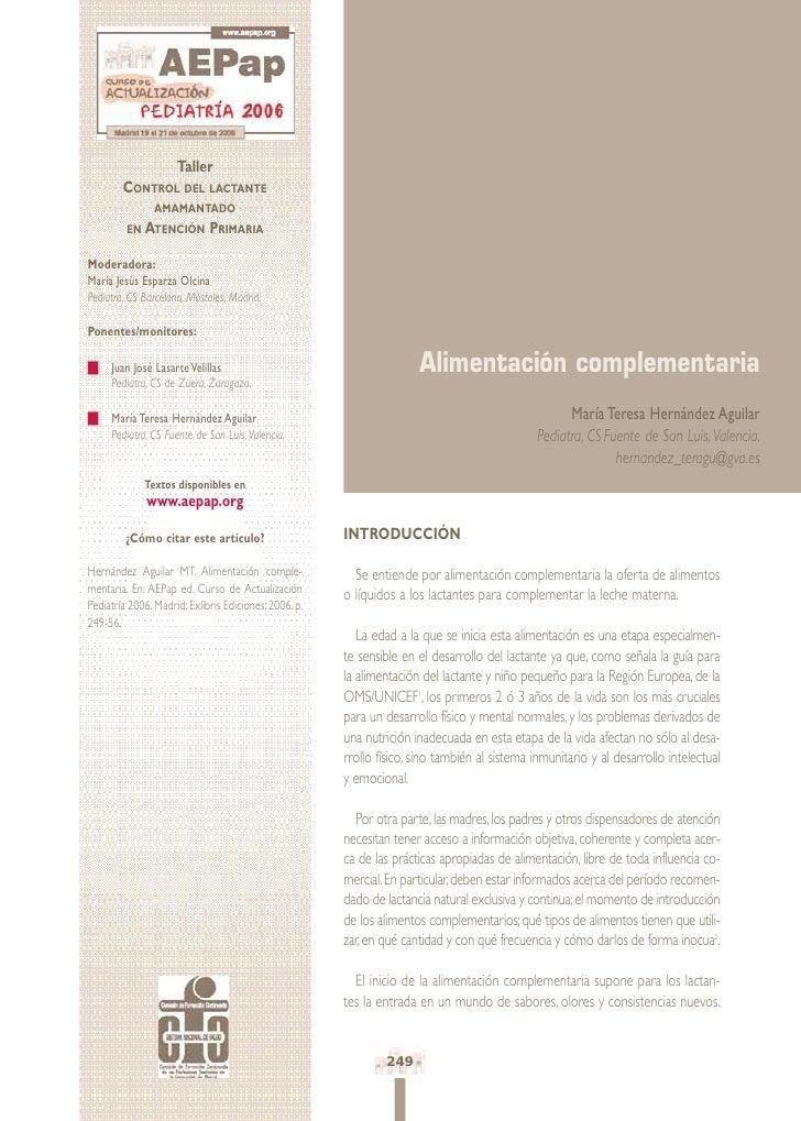 Taller         CONTROL DEL LACTANTE                 AMAMANTADO          EN ATENCIÓN         PRIMARIA  Moderadora: María Je...