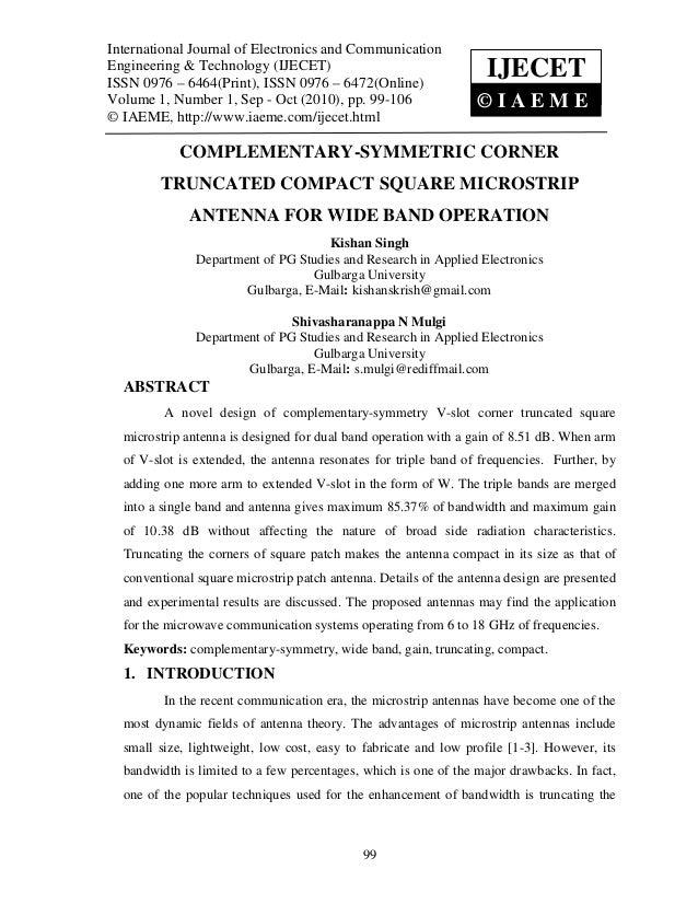 International Journal of Electronics and Communication Engineering & Technology (IJECET),   International Journal of Elect...
