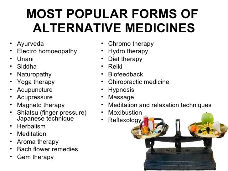 Alternative Medicine Examples