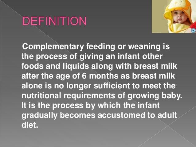 Complementary feeding ppt Slide 3