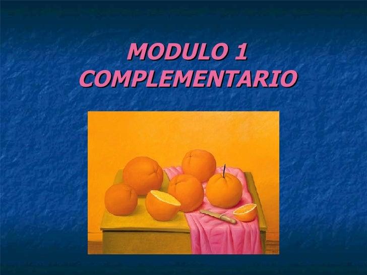 MODULO 1 COMPLEMENTARIO