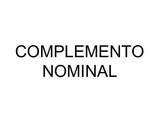 Complemento nominal Slide 2
