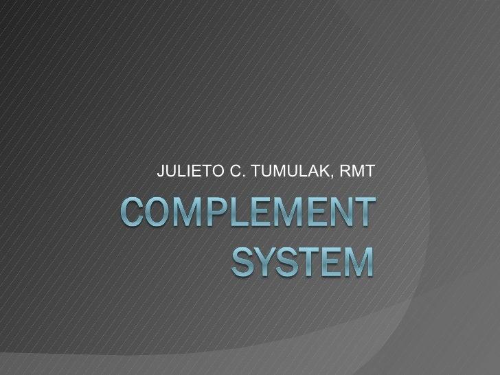 JULIETO C. TUMULAK, RMT