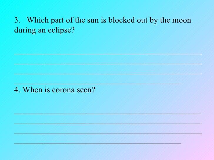 Worksheet On Universe For Grade 5 - Kidz Activities